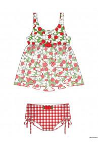 Пляжный комплект для девочек (топ+плавки) GPQ 021501 AF Celina