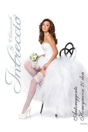INTRECCIO Чулки женские свадьба HONEYMOON 20 aut.