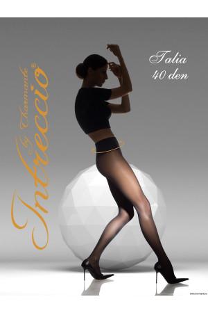 INTRECCIO Женские классические колготки с корректирующим широким поясом TALIA 40