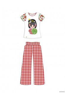 Пляжный комплект для девочек (брюки+топ) GHC 021509 AF Carina