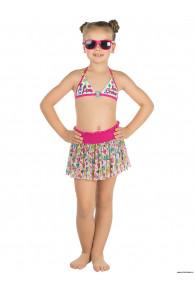 Купальник для девочек (бюст, плавки, юбка) GMU 051603 Kiwi