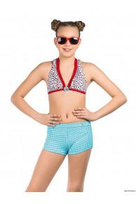 Купальник для девочек (бюст, плавки, шорты) GMH 031606 Floral