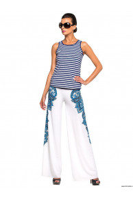 Комплект пляжный брюки+топ WX 041608 LG Blanche