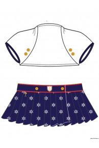 Пляжный комплект для девочек (топ+юбка) GHN 041506 AF Ricca