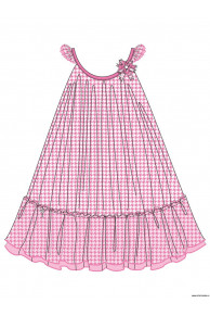 Пляжное платье для девочек + сумочка GQ 031506A AF Beverly