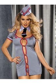 CONDUCTOR Комплект (платье+стринги+воротник+пилотка)