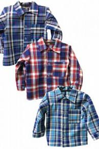 РБ-05 Рубашка для мальчика д/р (шотландка)