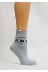 С29 А4 Носки женские ( Снежинки - ромбики )